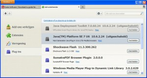 Java uitschakelen in Firefox (klik voor groter)